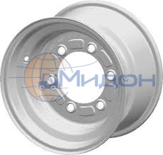 Диск колёсный (обод) GO 2.50Ax6 H2 TL 16x94/94 No-Hub cap RAL3000 Red STARCO-Stamp with Gizmo